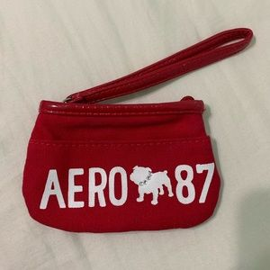 red aeropostale coin wristlet